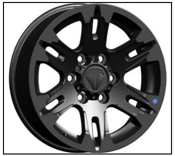 Satin Black Wheel 17 x 8 inch