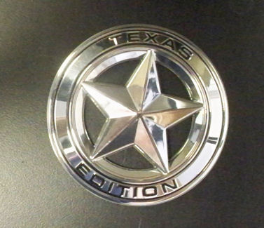 Texas Edition round star - chrome plated (1)