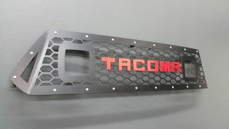 DB Customz Tacoma Grille Insert; Double Pod; 2012-2015