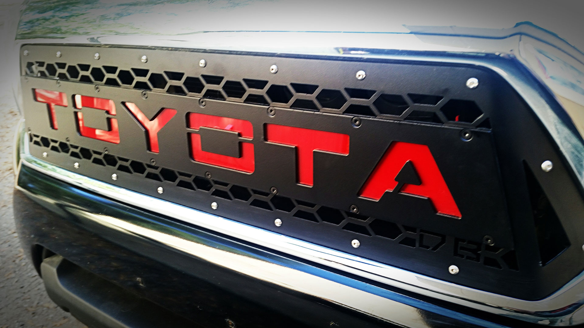 DB Customz Tacoma Grille Insert; TRD Style with LED Night Glow; 2012-2015