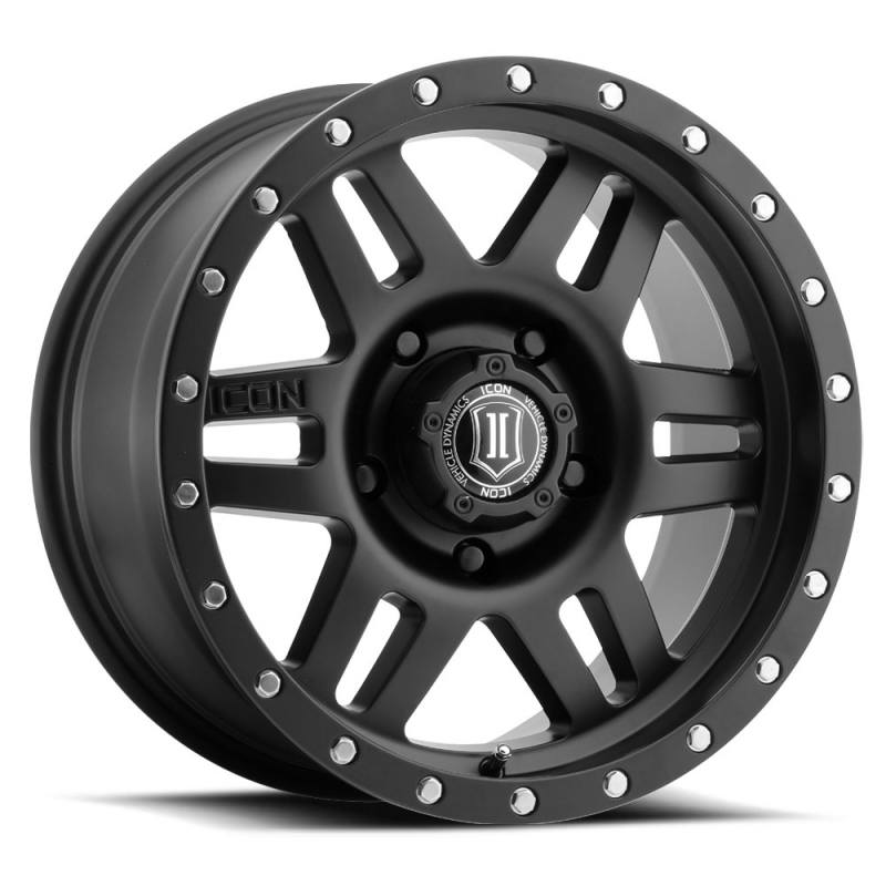 "Icon SIX SPEED 17"" Satin Black Finish"