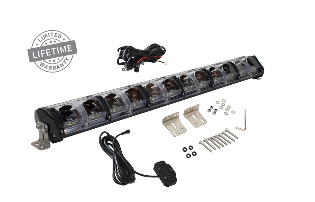 Overland Vehicle Systems 30 Inch LED Light Bar With Variable Beam DRL,RGB Back Light 6 Brightness EKO