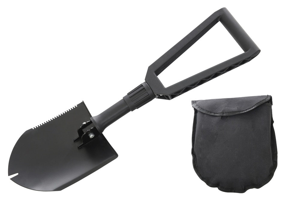 Overland Vehicle Systems Multi Functional Military Style Utility Shovel with Nylon Carrying Case