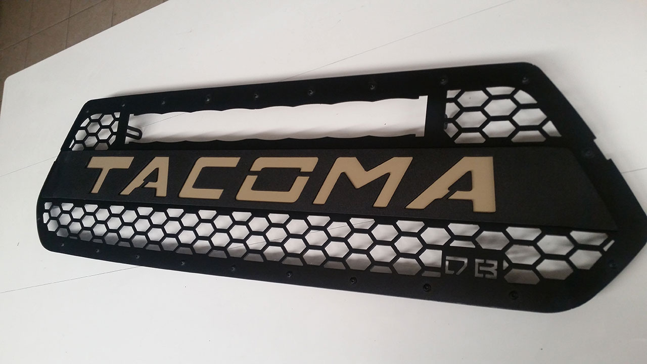 DB Customz 2016+ Tacoma Grille insert for Baja Designs S8 Light Bar