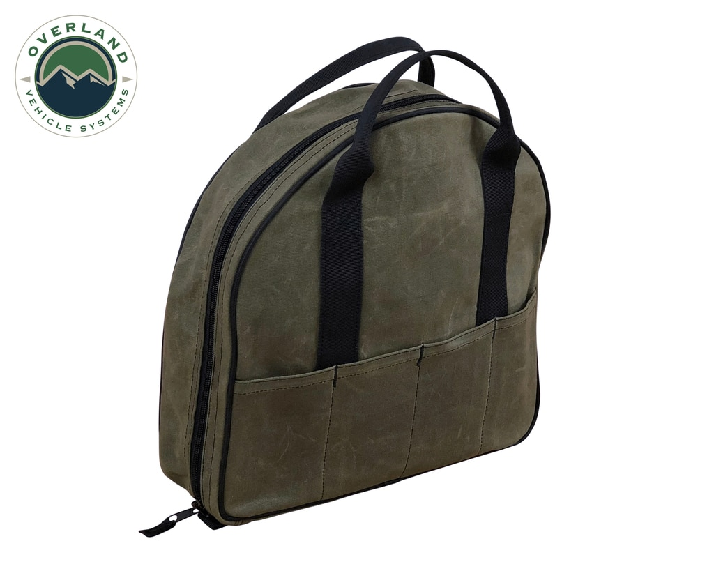 Overland Vehicle Systems Jumper Cable Bag 16 Lb Waxed Canvas