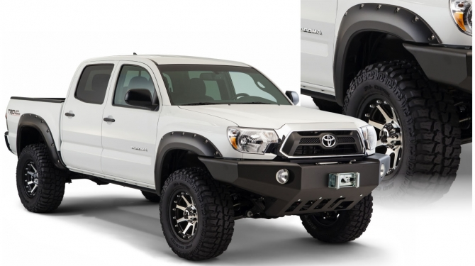 Bushwacker Pocket Style Fender Flares - OE Matte Black - 60.3 inch 2005-2011 (Set of 4)
