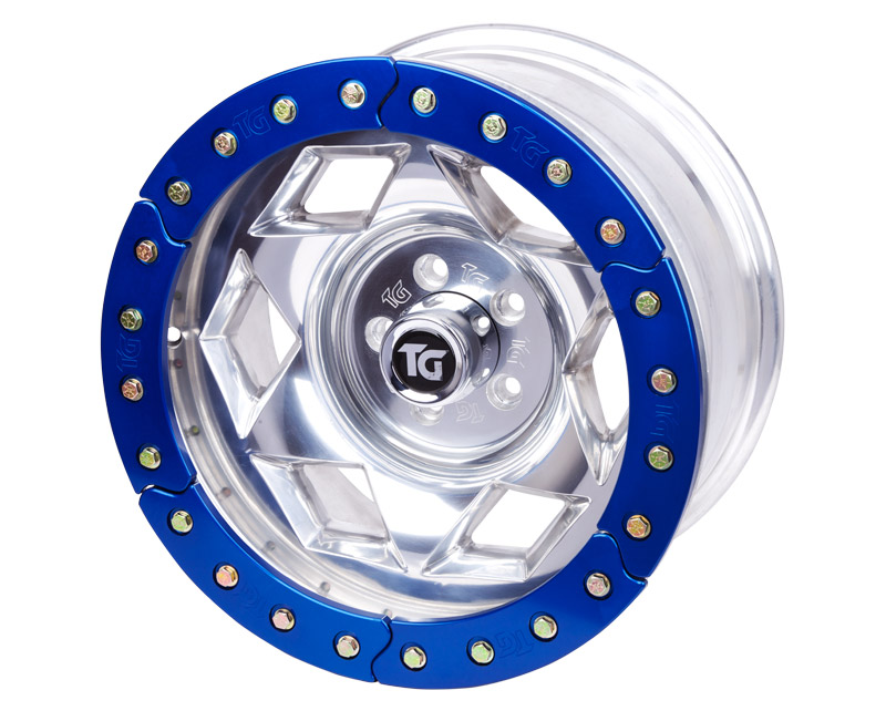 "17"" Aluminum Beadloclk Wheel, FJ/TACOMA (6 on 5.5"" w 3.75"" BS), Blue Segmented Ring"