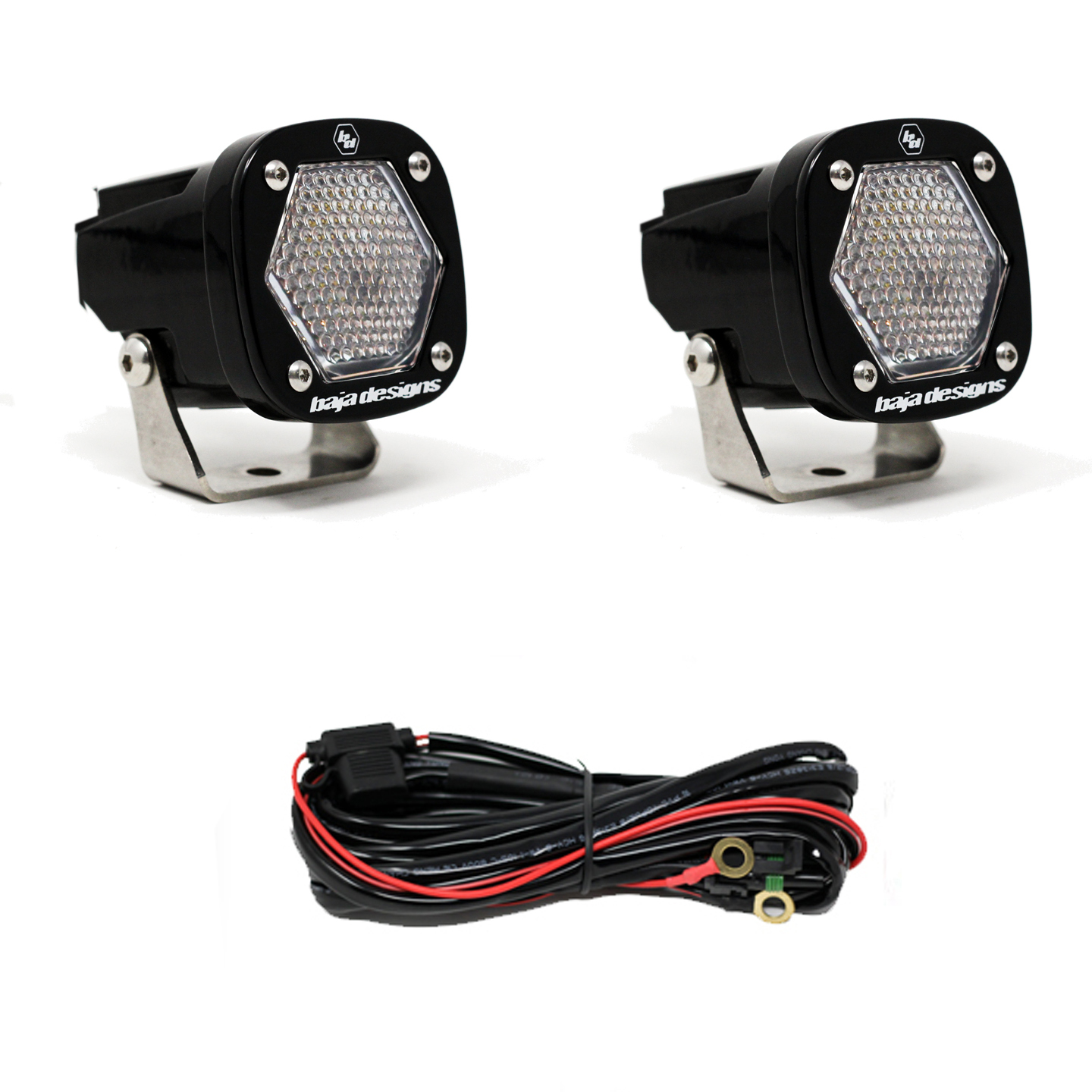 S1 Work/Scene LED Light with Mounting Bracket Pair Baja Designs