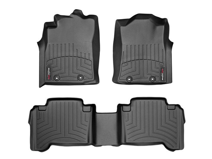 WeatherTech Pair Tacoma Double Cab Floor Liners (Automatic) - 2005-2015 - BLACK