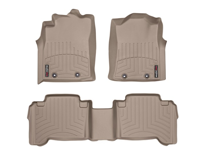 WeatherTech Pair Tacoma Double Cab Floor Liners (Automatic) - 2005-2015 - TAN