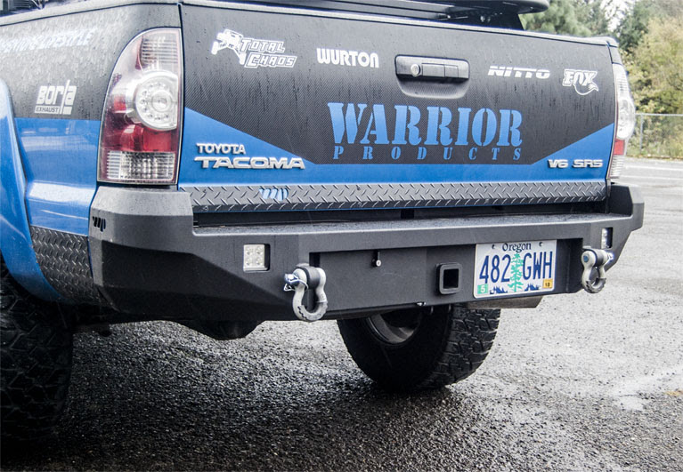 Warrior Tacoma Rear Hitch Bumper w/ D-Ring Mounts & Lockable Storage Trunk 2005-2015
