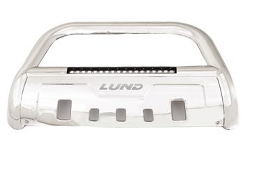 Lund International Stainless Bull Bar with LED Light Bar & Wiring Harness