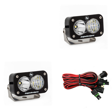 LED Light Pods Driving Combo Pattern Pair S2 Pro Series Baja Designs