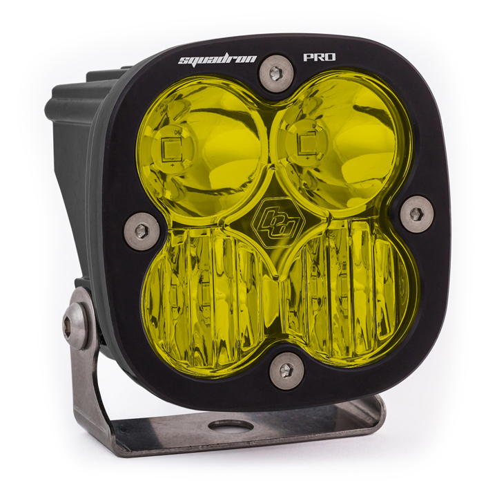 LED Light Pod Black Amber Lens Driving/Combo Pattern Squadron Pro Baja Designs