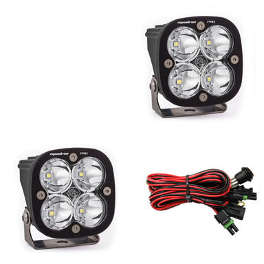LED Light Pods Work/Scene Pattern Pair Squadron Pro Series Baja Designs