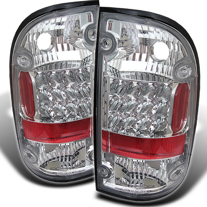Spyder for Toyota Tacoma 01-04 LED Tail Lights - Chrome - Discontinued