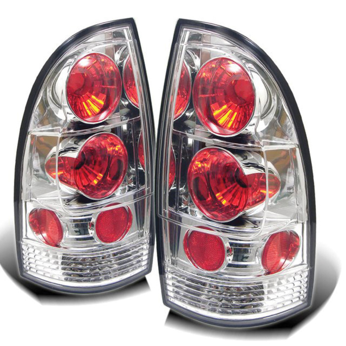 Toyota Tacoma 05-12 Euro Style Tail Lights - Chrome