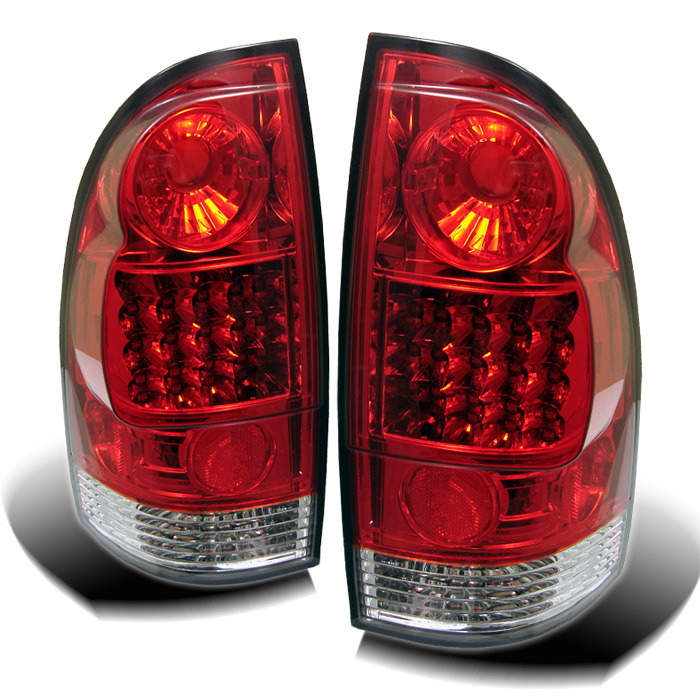 Spyder for Toyota Tacoma 05-12 LED Tail Lights - Red Clear