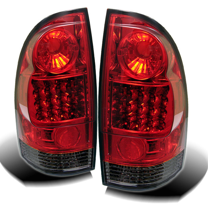 Toyota Tacoma 05-12 LED Tail Lights - Red Smoke