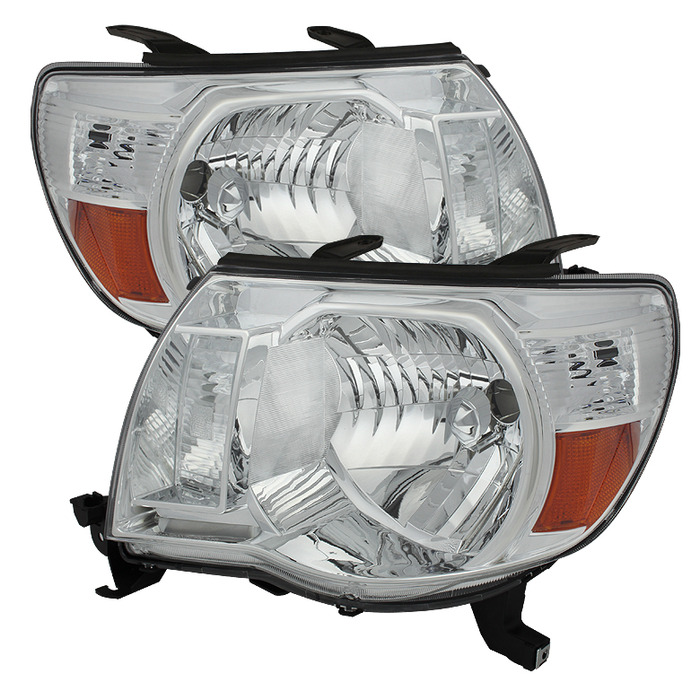 Toyota Tacoma 05-11 Amber Crystal Headlights - Chrome (Pair)
