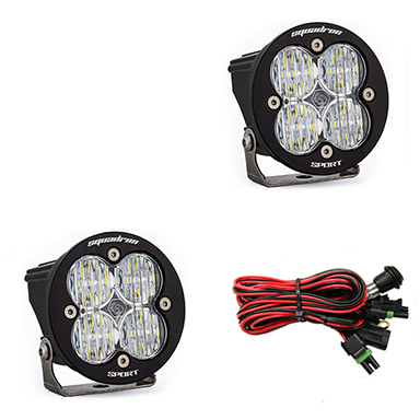 LED Light Pods Clear Lens Wide Cornering Pair Squadron R Sport Baja Designs