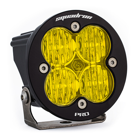 LED Light Pod Amber Lens Wide Cornering Pattern Each Squadron R Pro Baja Designs