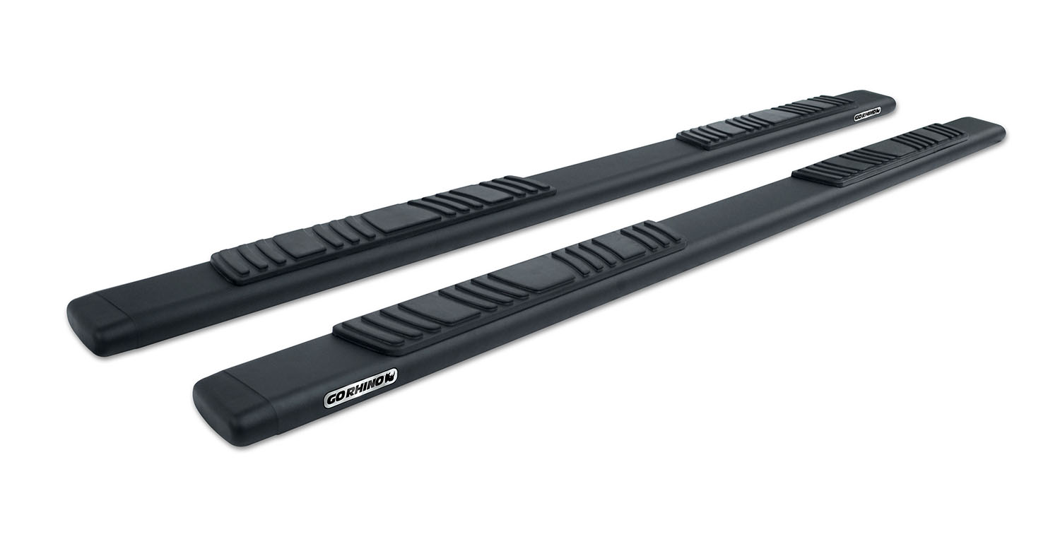 "5"" OE Xtreme Low Profile SideSteps Kit - 87"" Long Textured black + Brackets"