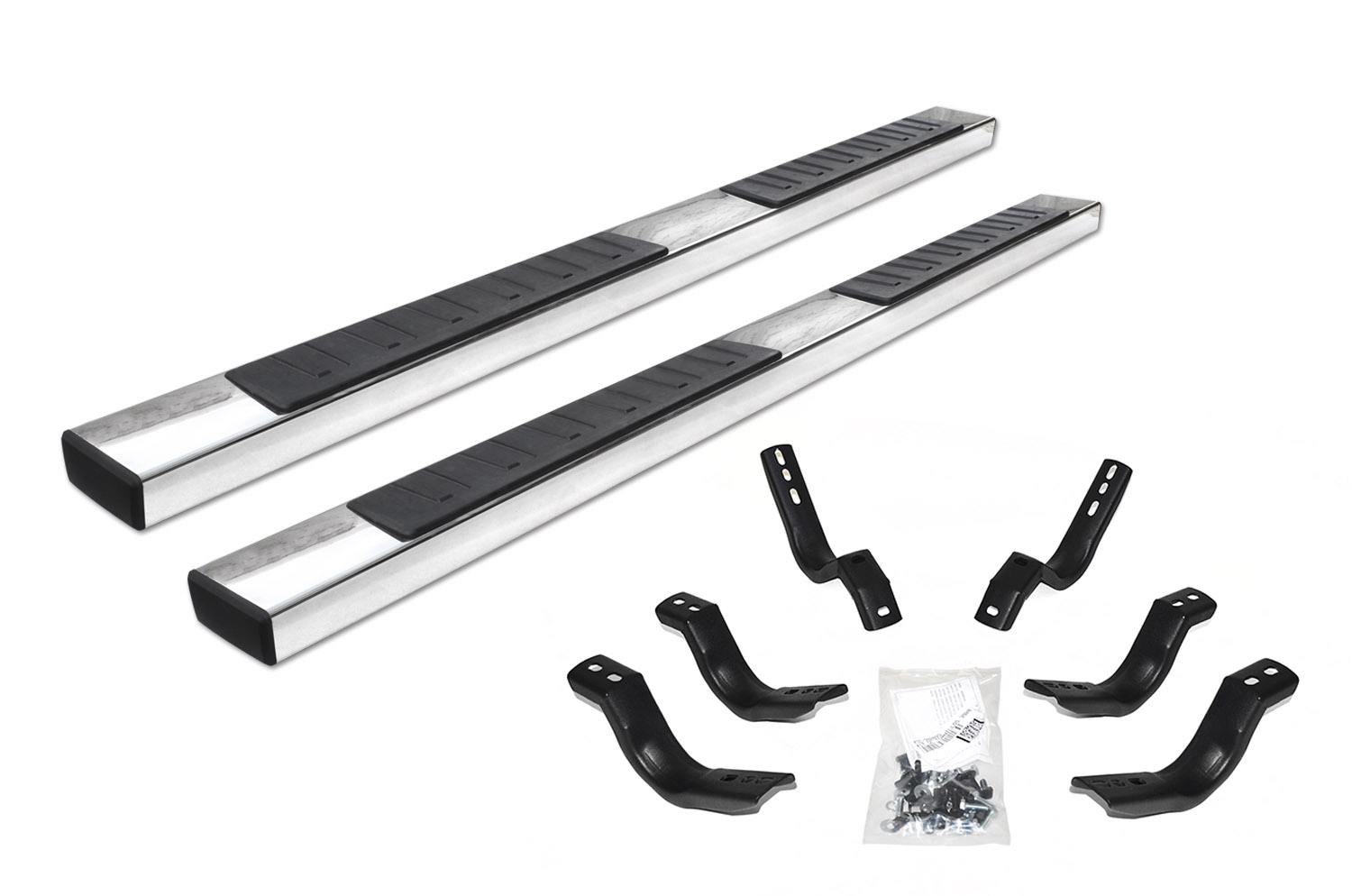 "6"" OE Xtreme II Stainless SideSteps Kit - 87"" Long + Brackets"