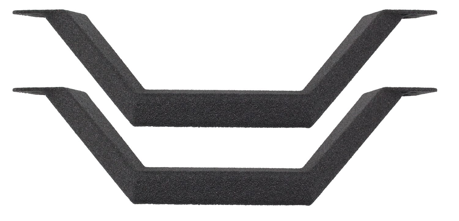 Pair of RB Series Drop Steps with Protective Bedliner Coating (Straight)