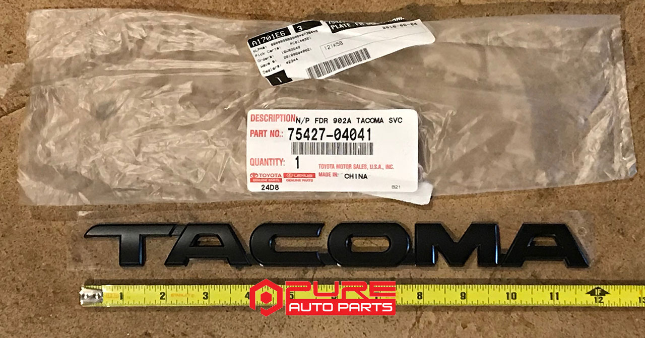 Toyota Pure Tacoma Accessories Parts And For Your Door Locks Wiring Diagram 2010 Access Cab Matte Black Emblem