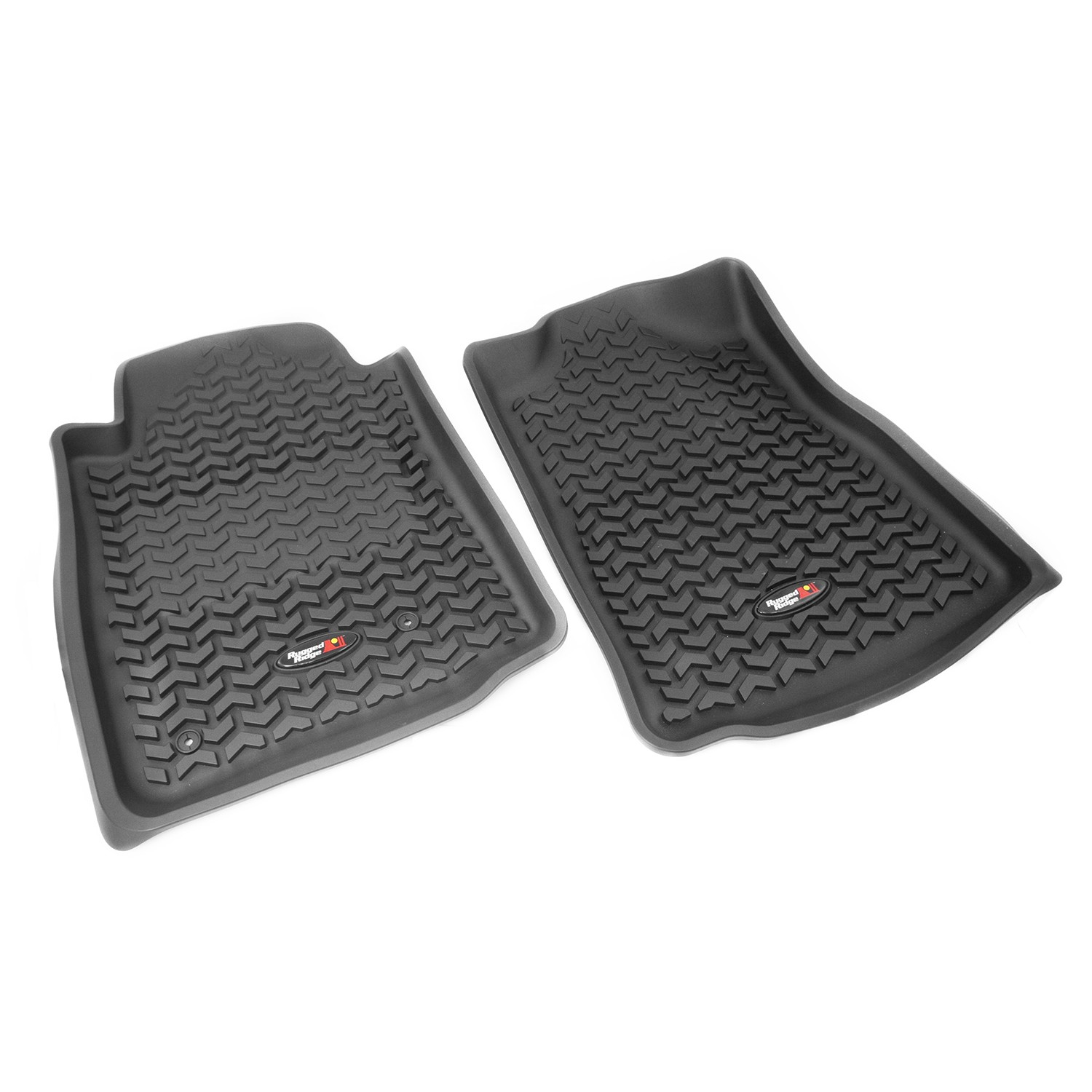 Rugged Ridge All Terrain Front Floor Liner Kit - Black; AUTOMATIC; 2005-2011 Tacoma