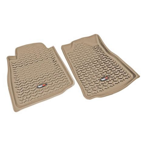 Rugged Ridge 05-11 Automatic Front Floor Liner Kit - Tan