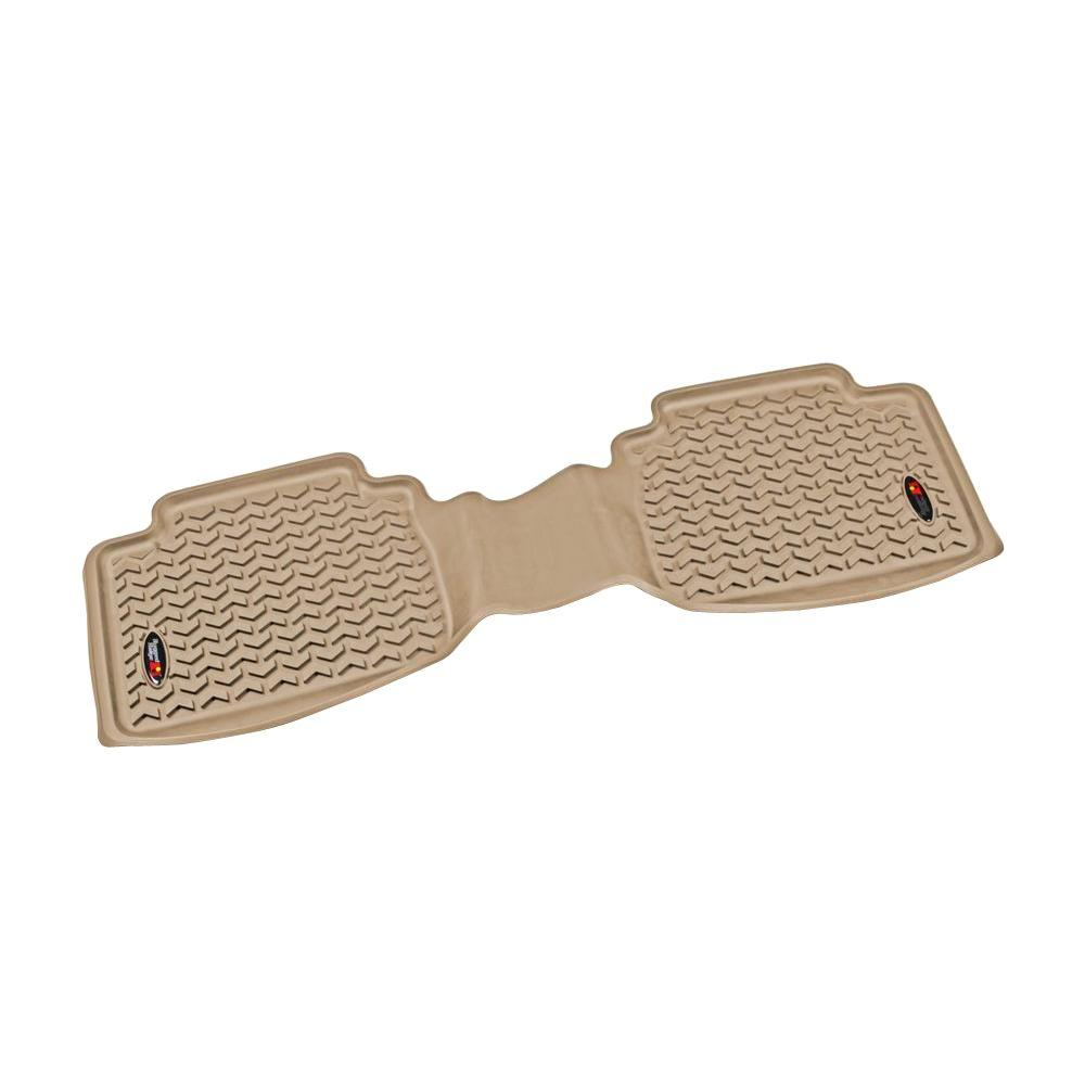 Rugged Ridge 05-18 Rear Floor Liner Kit - Tan