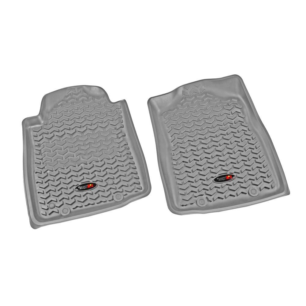 Rugged Ridge 12-18 Front Floor Liner Kit - Gray