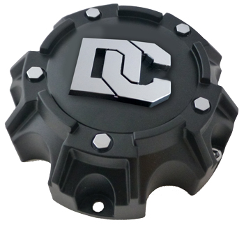 Dick Cepek DC Blackout/DC Matrix Center Caps 6X5.50 Bolt On Closed Flat Black