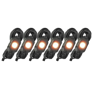 Vision X 9 Watt LED Rock Light 6 Pod Kit