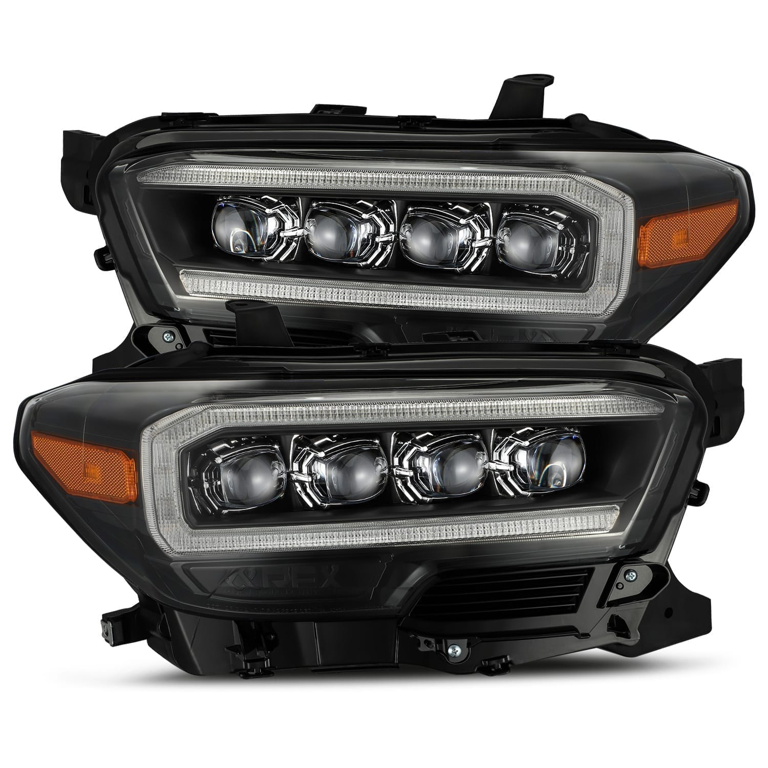 AlphaRex 16-20 Toyota Tacoma NOVA-Series LED Projector Headlights Black