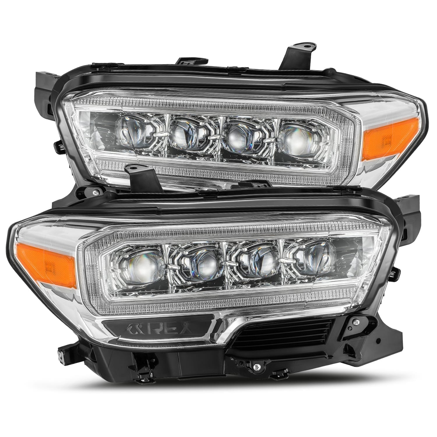 AlphaRex 16-20 Toyota Tacoma NOVA-Series LED Projector Headlights Chrome