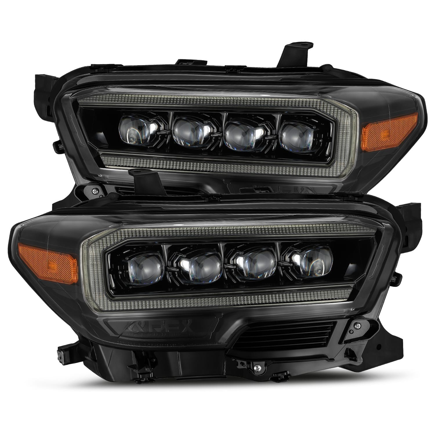 AlphaRex 16-20 Toyota Tacoma NOVA-Series LED Projector Headlights Mid-Night Black