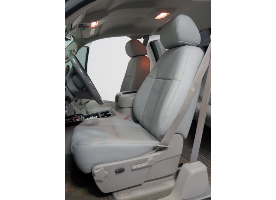 Clazzio Custom Seat Covers - Leather - Front Seats - Light Gray