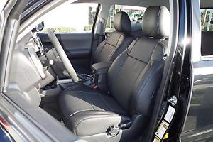 Clazzio Tacoma Double Cab Front & Rear Black Leather Seat Covers
