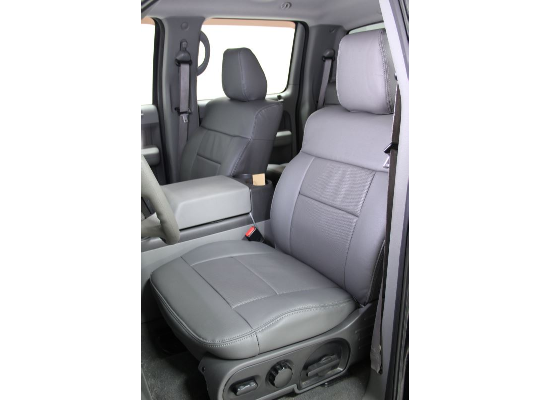 Clazzio Custom Seat Covers - Leather - Front and Rear - Gray
