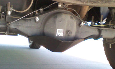 BozTec Rear Diff Skid Plate 2005-2015