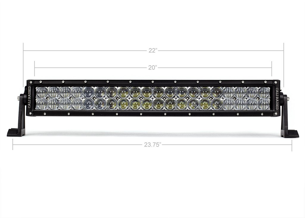 Cali Raised 21.5 In. Dual Row 5D Optic OSRAM LED Bar