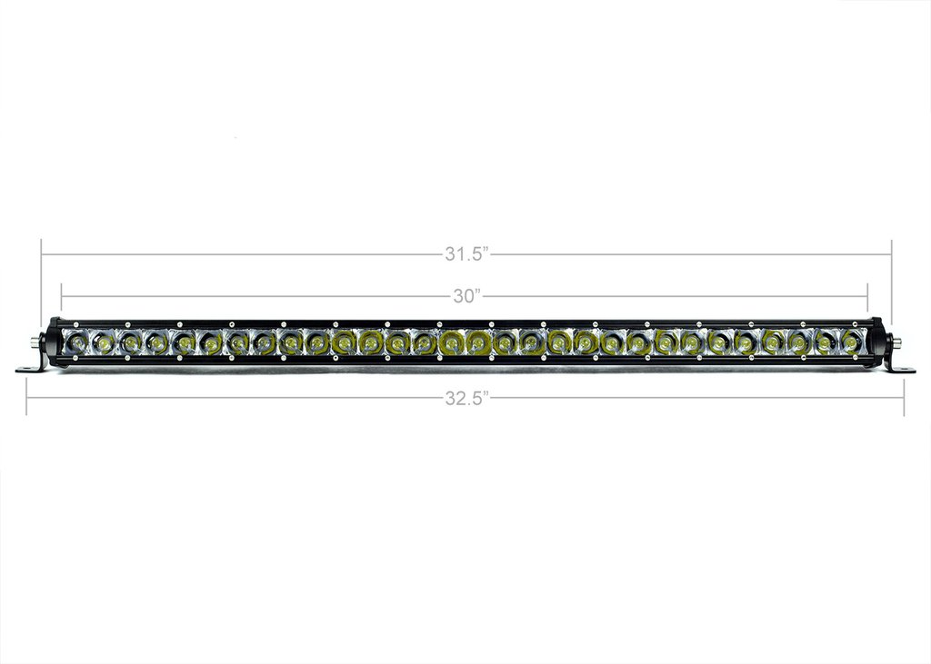 Cali Raised 32 In. Slim Single Row LED Bar