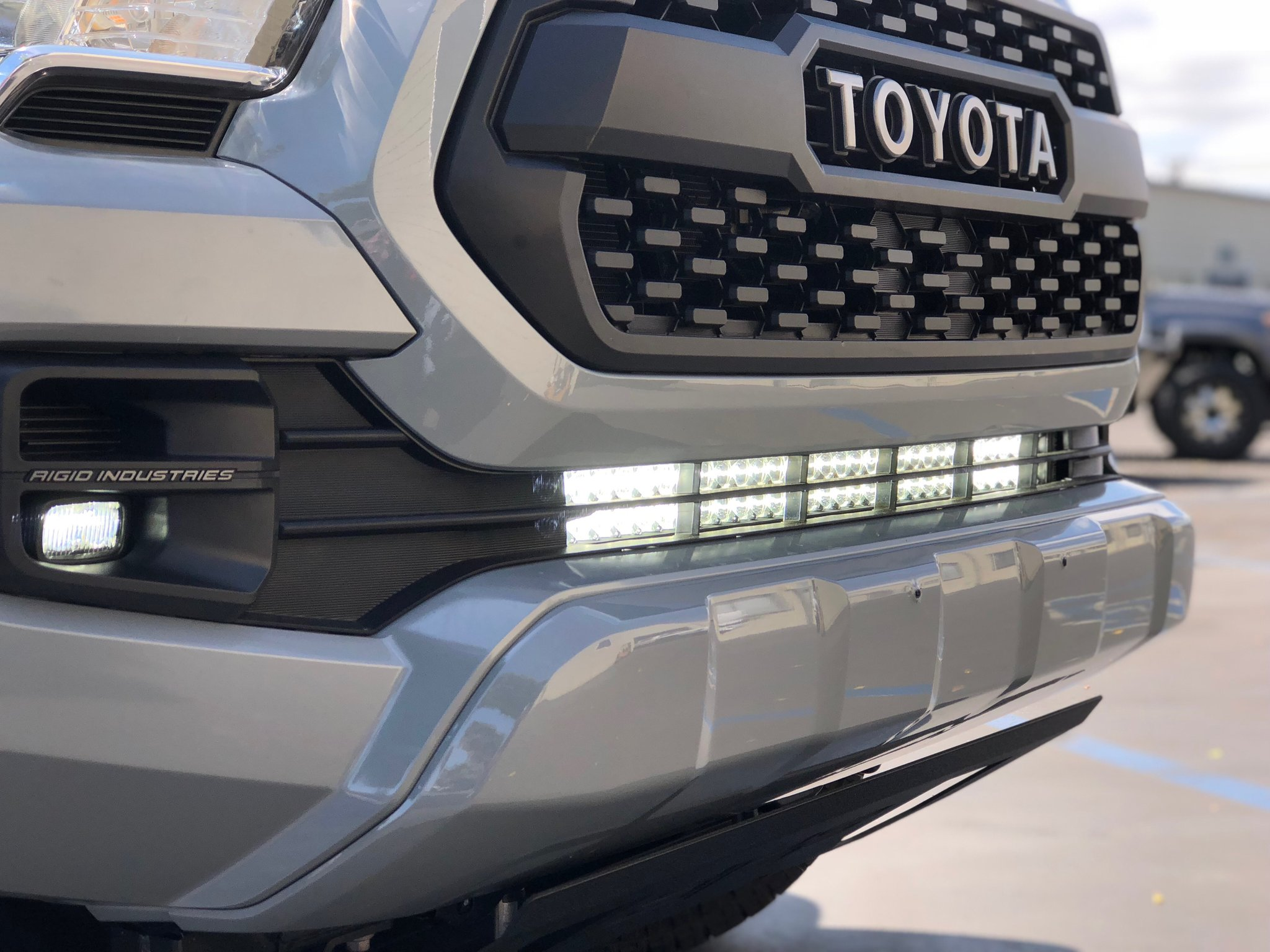 Cali Raised Tacoma 32 In. Light Bar Lower Bumper Bracket 2016-2020