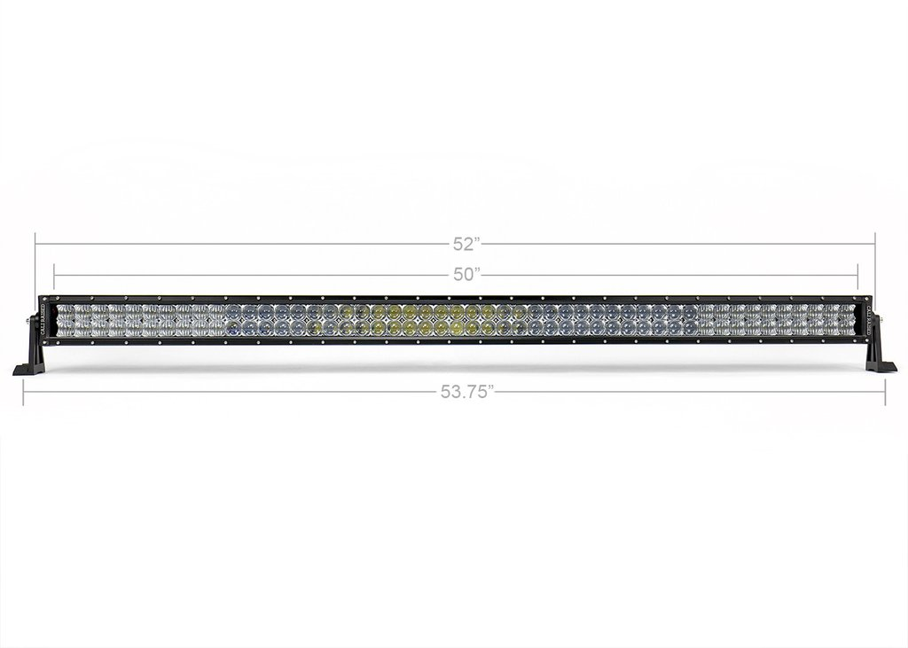 Cali Raised 52 In. Dual Row 5D Optic OSRAM LED Bar
