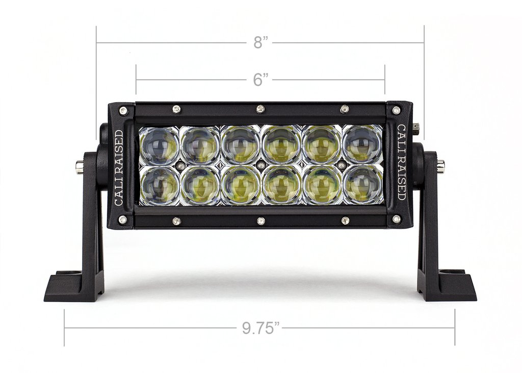Cali Raised 8 In. Dual Row 5D Optic OSRAM LED Bar