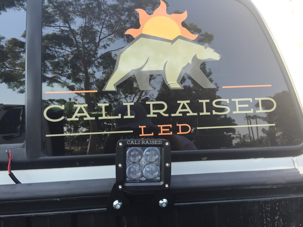 Cali Raised Toyota Truck Bed Rail LED Pod Mounting Brackets