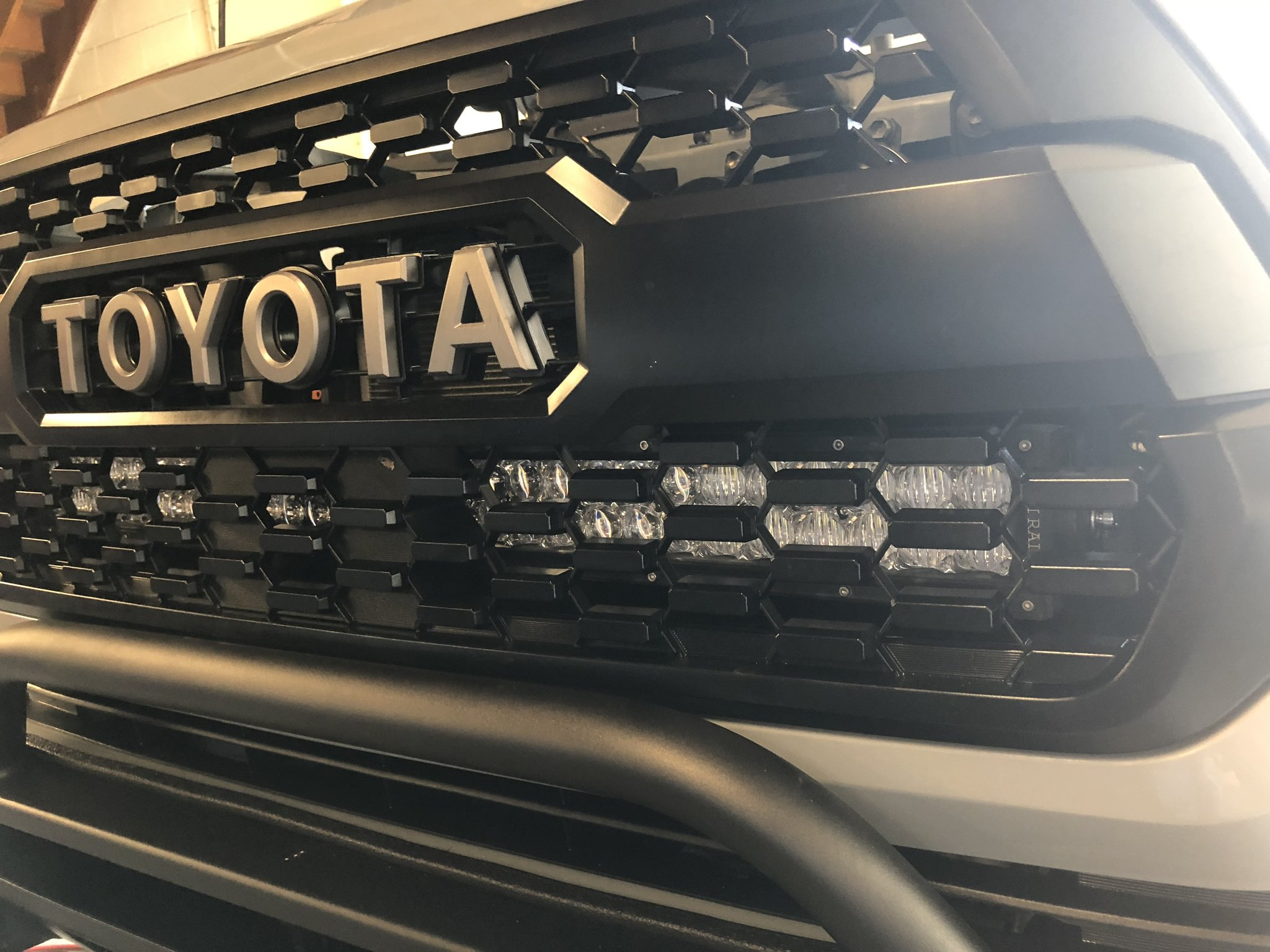 Cali Raised Hidden Grille LED Brackets 2016-2020 Toyota Tacoma